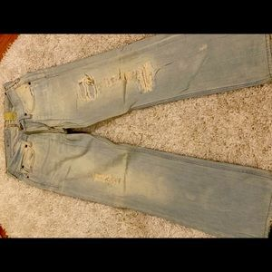 Hollister ripped relax bootcut jeans 28W/30L